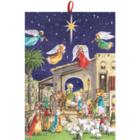 Nativity Scene With Angels Advent Calendar