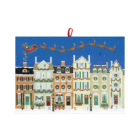 Santa Delivering Gifts Advent Calendar