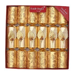 Robin Reed Crystal Leaf Christmas Crackers