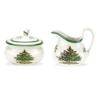 Spode Christmas Tree Sugar and Creamer Set