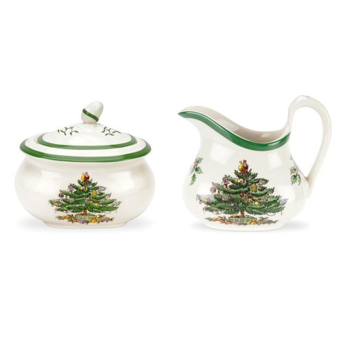 Spode Spode Christmas Tree Sugar and Creamer Set