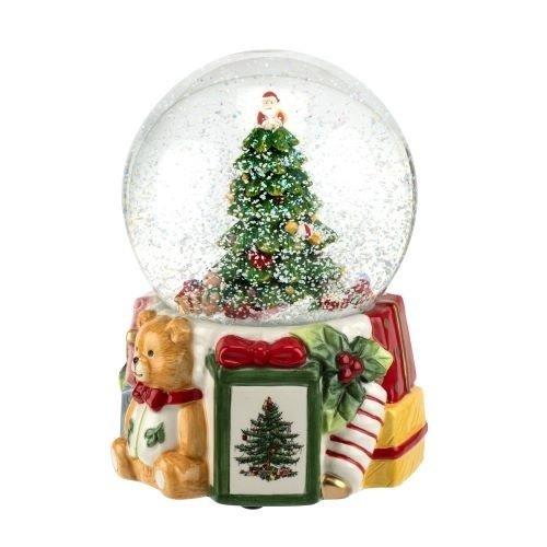 Spode Spode 250th Anniversary Musical Christmas Tree Snow Globe