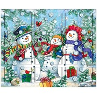 Snowman Family Wooden Advent Calendar