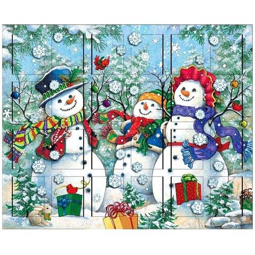 Snowman Family Wooden Advent Calendar