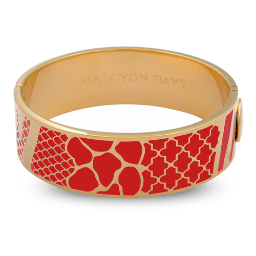 Halcyon Days Halcyon Days Wildlife Bangle - Red and Gold