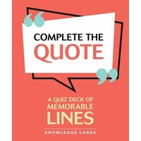 Complete The Quote Cards