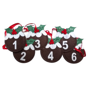 Plum Pudding Garland Advent Calendar