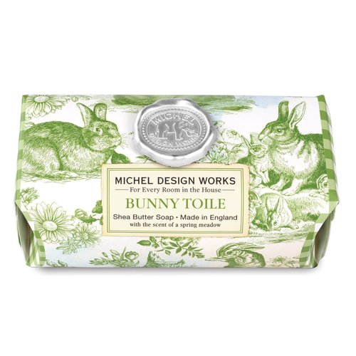 Michel Design Works Michel Bunny Toile Large Soap Bar