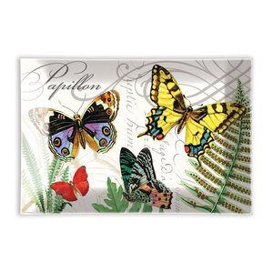 Michel Design Works Papillon Rectangular Glass Soap Dish
