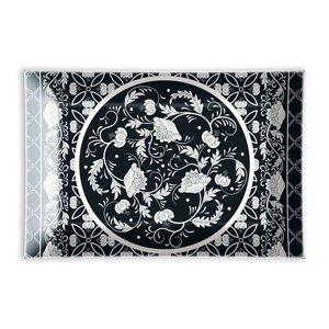 Michel Design Works Bouquet Rectangular Glass Soap Dish