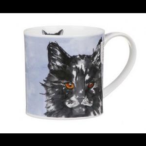 Dunoon Orkney Pawtraits Black & White Cat Mug