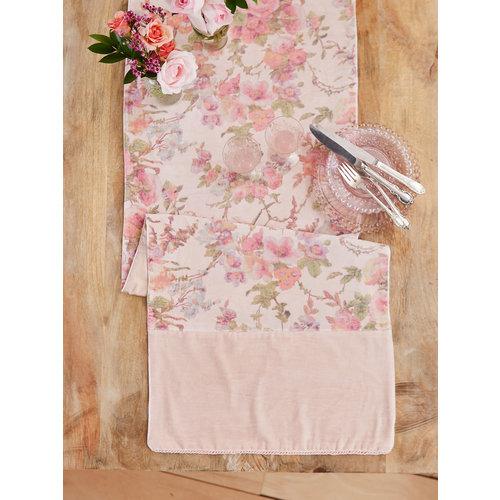 April Cornell English Garden Velvet Runner Soft Rose