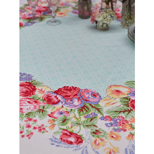 April Cornell Marion White/Multi 60 x 90 Tablecloth