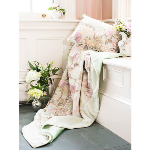 April Cornell Tea Garden Velvet Throw Sage