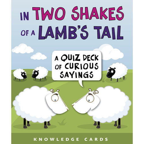 Pomegranate In Two Shakes of a Lamb's Tail Quiz Cards