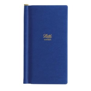 Letts of London Legacy Pocket Address Book Blue