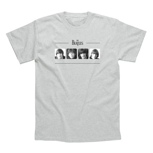 Spike Leissurewear Beatles Portraits Grey T-Shirt