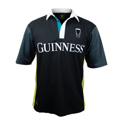 Guinness Guinness Black and Yellow Stripe Rugby Jersey