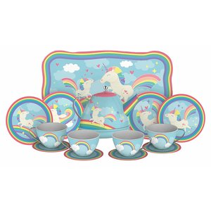 Schylling Schylling Unicorn Tin Tea Set