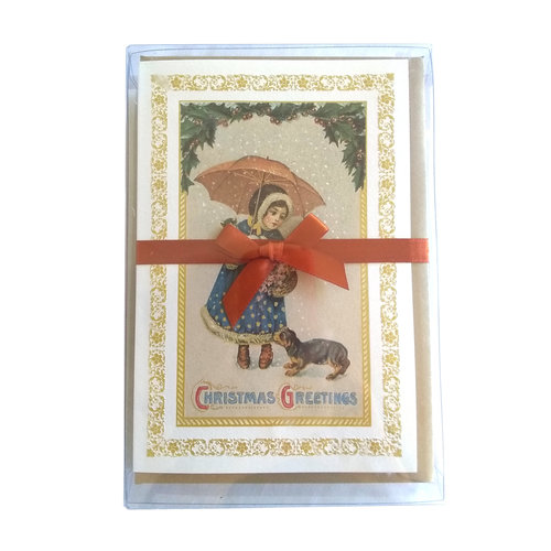 Boxed Cards - Girl with Umbrella