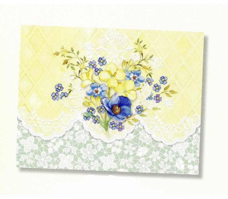 Carol's Rose Garden -Sunny Bouquet 10 Notecards
