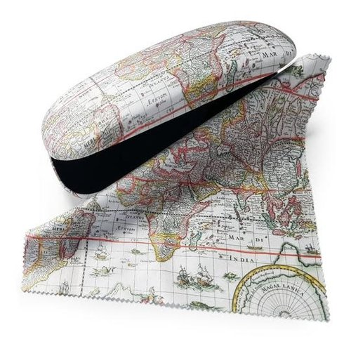Map of the World Glasses Case