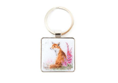 Wrendale Wrendale Fox 'Foxgloves' Keyring