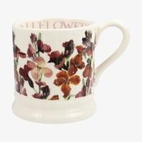 Red Wallflowers 1/2 Pint Mug