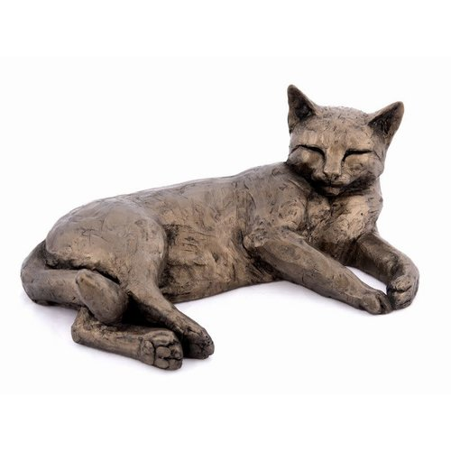 Frith Sculpture Frith Polly Contented Cat Lying S171