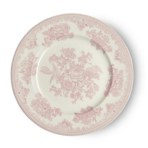 Burleigh Pottery Asiatic Pheasants Pink Dinner Plate