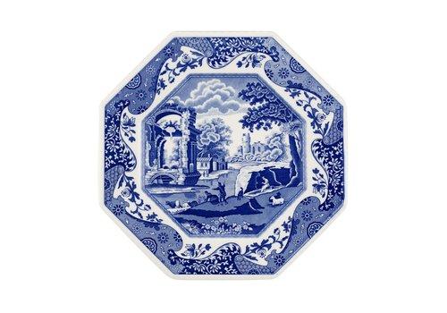 "Spode Blue Italian Octagonal Plate 9.5"""