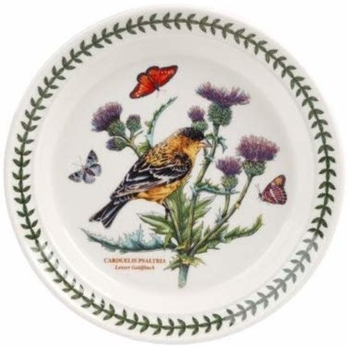 Portmeirion Botanic Garden Birds Dinner Plate Goldfinch