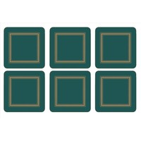 Pimpernel Emerald Classic Coasters