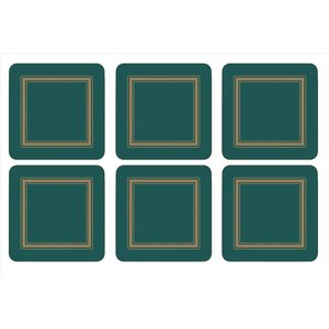 Pimpernel Pimpernel Emerald Classic Coasters