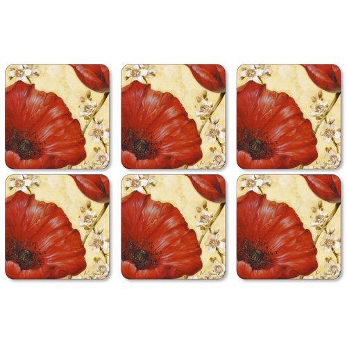 Pimpernel Pimpernel Poppy de Villeneuve Coasters