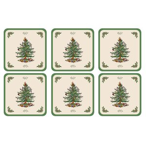 Spode Spode Christmas Tree Coasters