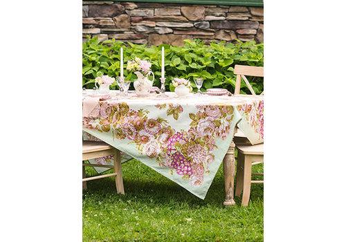 "April Cornell Spring Gathering Vintage Tablecloth 54"" x 54"""