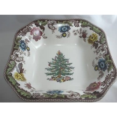 Spode Christmas Tree Grove Square Bowl