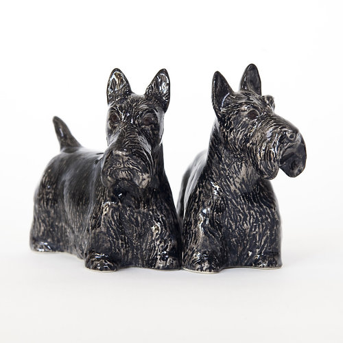 Quail Ceramics Quail Scottie Figures Set of 2