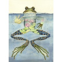 Watercolor Frog Card
