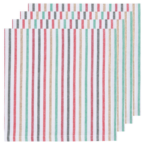 Now Designs 4 North Pole Stripe Napkins