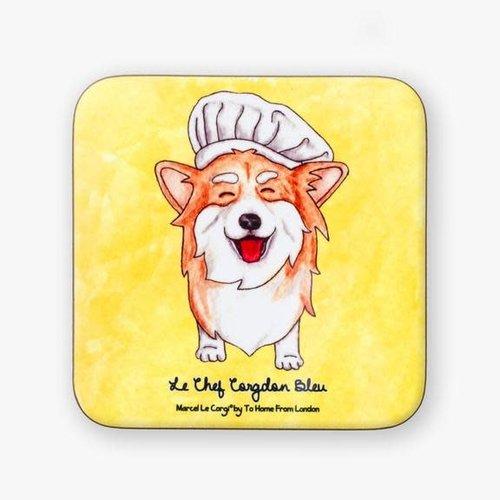 Le Chef Corgi Coaster