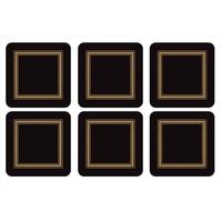 Pimpernel Classic Black Coasters
