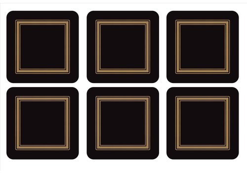 Pimpernel Pimpernel Classic Black Coasters