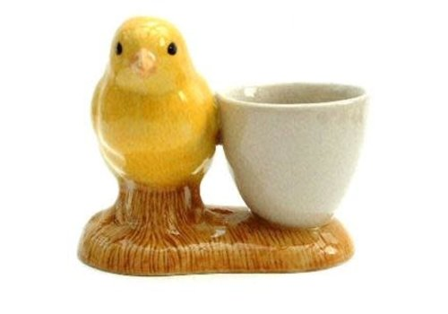 Quail Ceramics Quail Yellow Chick with Egg Cup