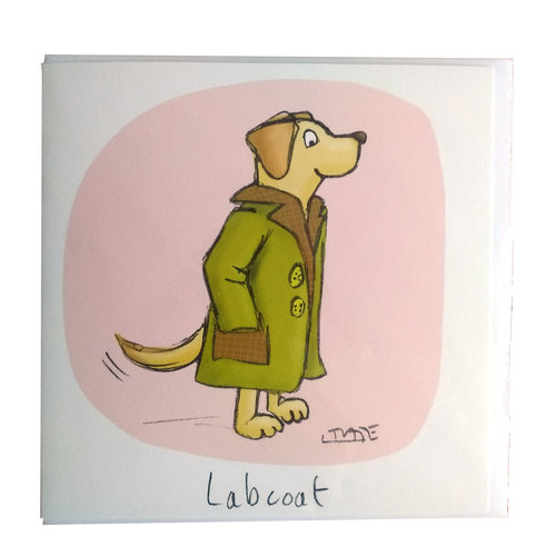 Labcoat Greeting Card