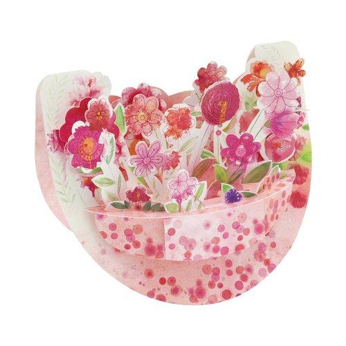 Santoro London Popnrock Pink Bouquet Card