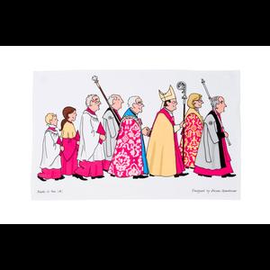 Alison Gardiner Cathedral Procession Tea Towel