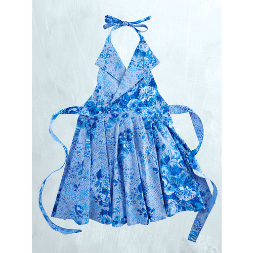 Marion Collar Apron Blue