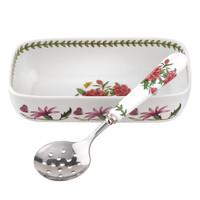 Botanic Garden Cranberry Dish with Spoon